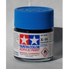 Tamiya Acrylic X-14 Sky Blue 23ml Bottle of Paint # 81014